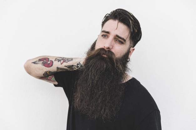 como crescer barba grande
